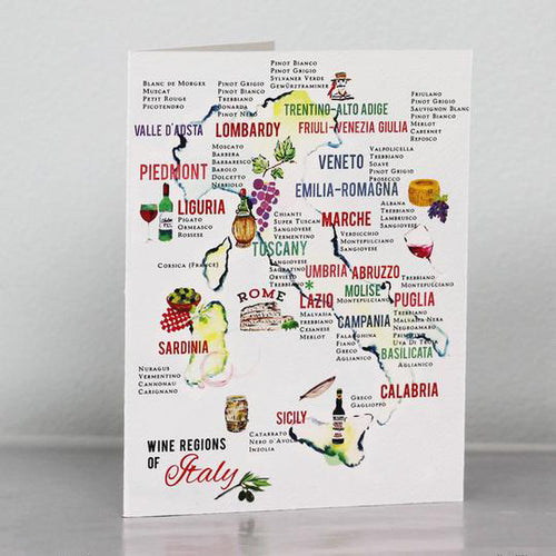 Italian Wine Map Card