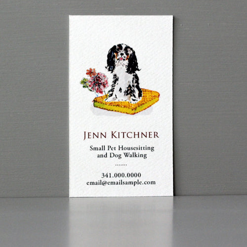 King Cavalier Charles Business Card, Sets of 50