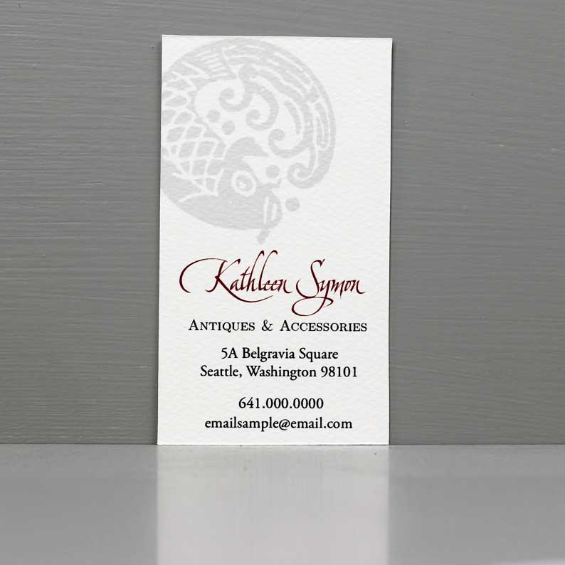 Zen Business Card with Koi, Tea Business Card