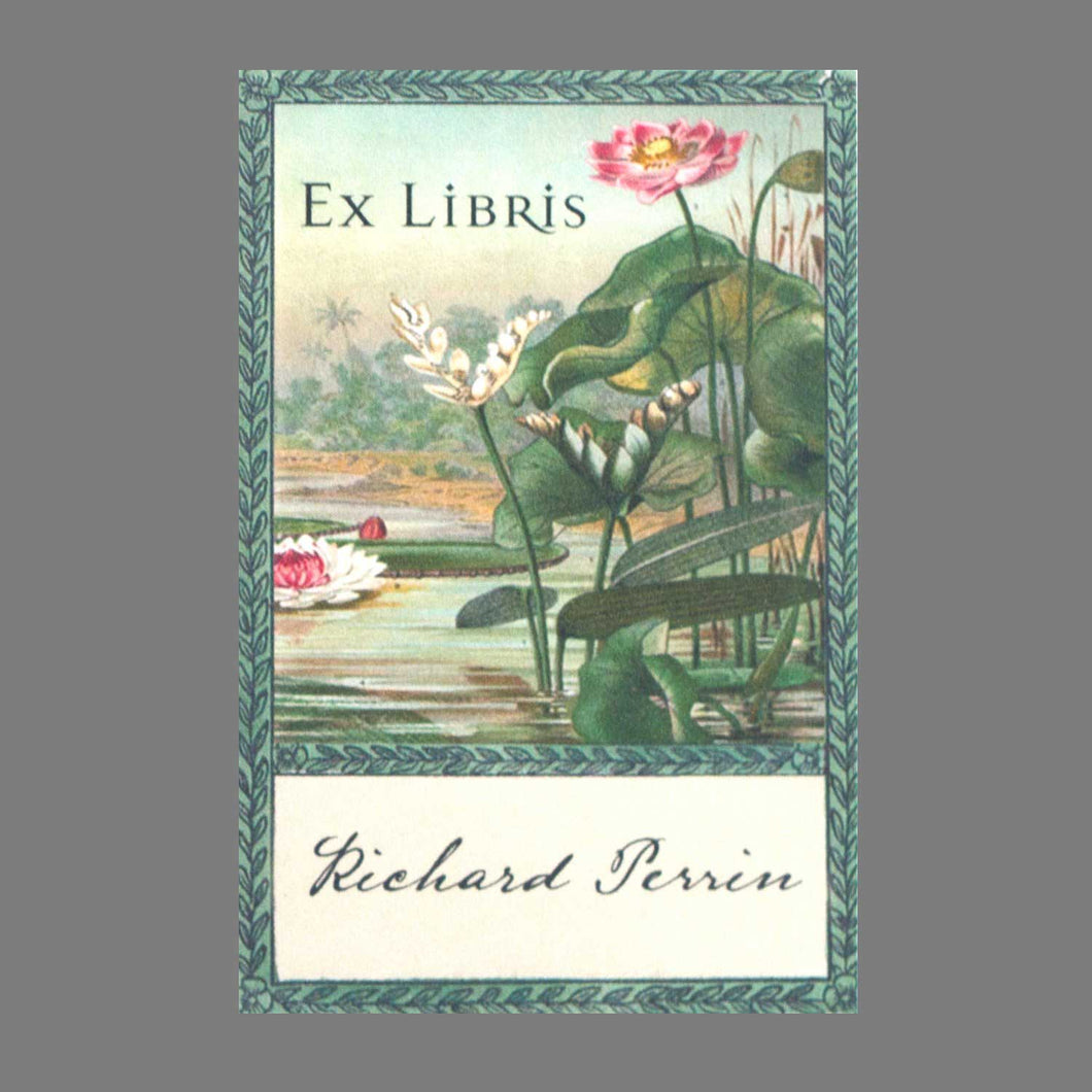 Botanical Lily Pad Bookplates