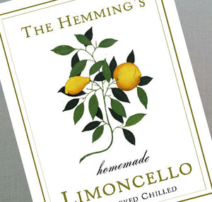 Personalized Limoncello Old World Design