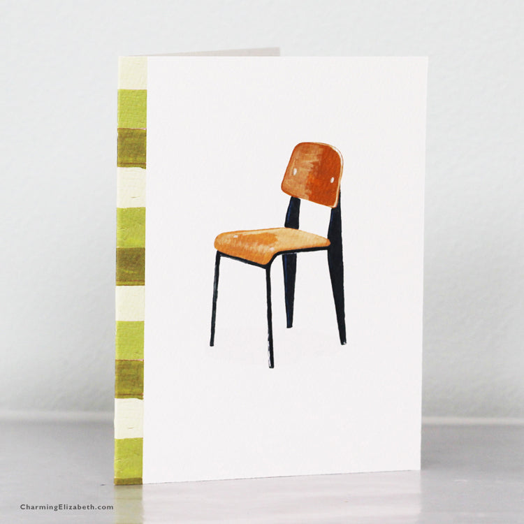 French Modern Chair Card