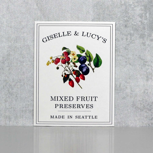 Personalized Mixed Berry Jam Labels, Mixed Fruit Preserves Label