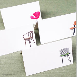 Modern Chairs Place Cards, Assorted Styles