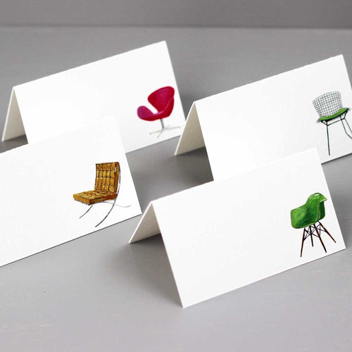 Modern Chairs, 4 Assorted Designs