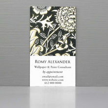 William Morris Pattern Business Card