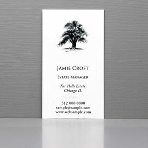 Business Card with Oak Tree, Landscaper Business Card