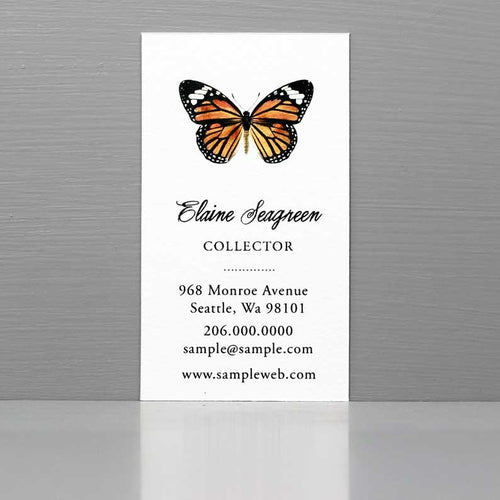 Butterfly Business Card, Business Card with Monarch Butterfly