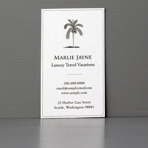 Palm Tree Business Card, Sets of 50