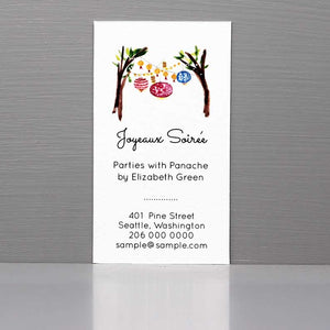 Party Planner Business Card, Event Planner Business Card, Party Lanterns