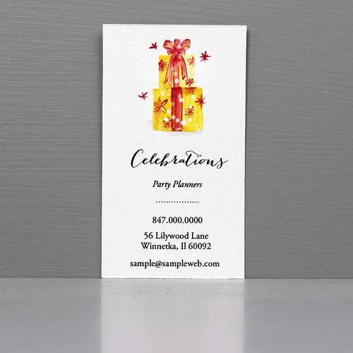 Party Planner Business Card, Gift Wrap Business