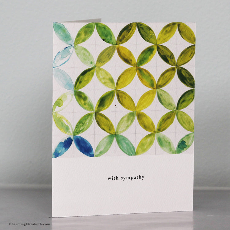 Patterned Sympathy Card