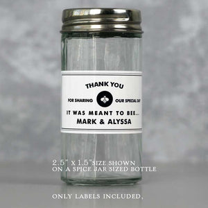 Small Personalized Honey Labels for Mini Jars or Favor Jars