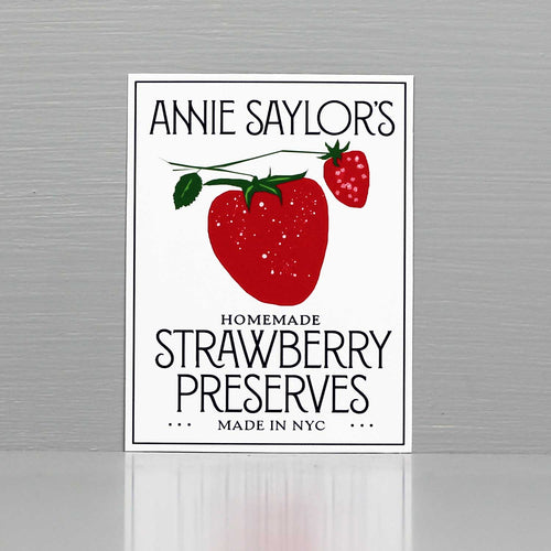 Personalized Strawberry Jam Labels, Personalized Strawberry Preserves Labels