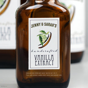 Personalized Vanilla Extract Label or Tags, Set of 18