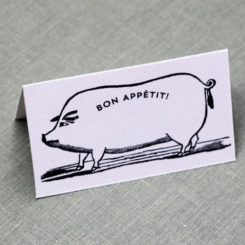 Victorian Pig Place Cards