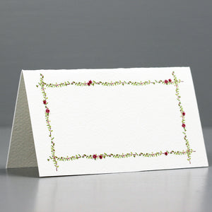 Floral Branch Pink Flowers Place Cards