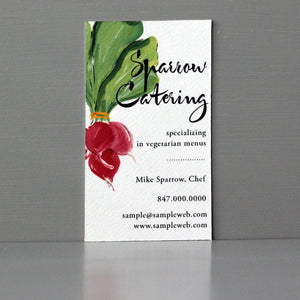 Radish Business Card, Sets of 50