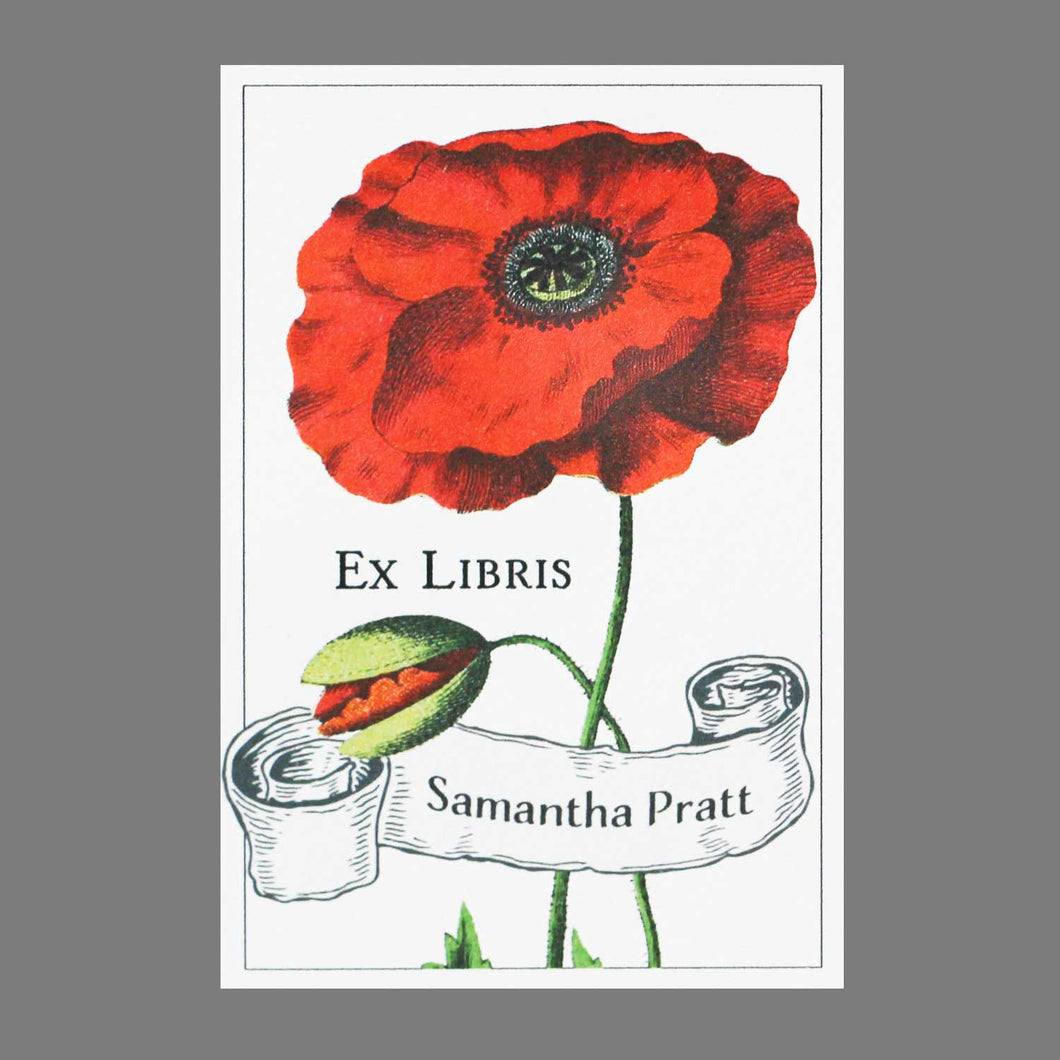 Red Poppy Bookplates