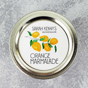 Personalized Orange Marmalade Labels or Arancello Circle Labels
