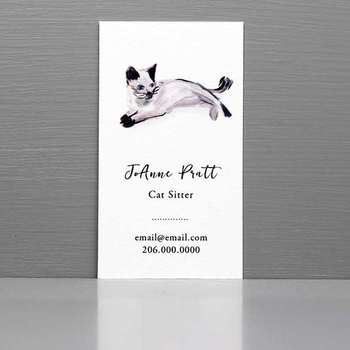 Cat Sitter Business Card, Siamese Cat Business Card