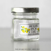 Small Personalized Lemon Labels for Mini Jars or Favor Jars, Lemon Marmalade, Lemon Curd