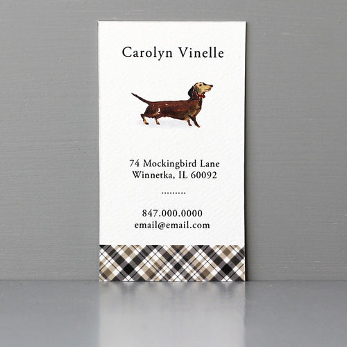 Brown Red Dachshund Business Card
