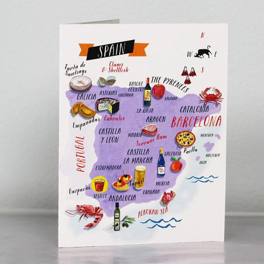 Spanish Food Map Card