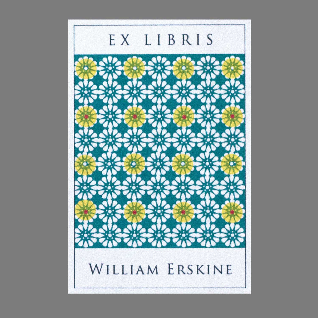 Moorish Modern Pattern Bookplates
