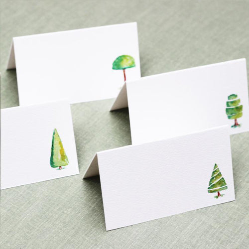Topiary Place Cards, 4 Assorted Designs