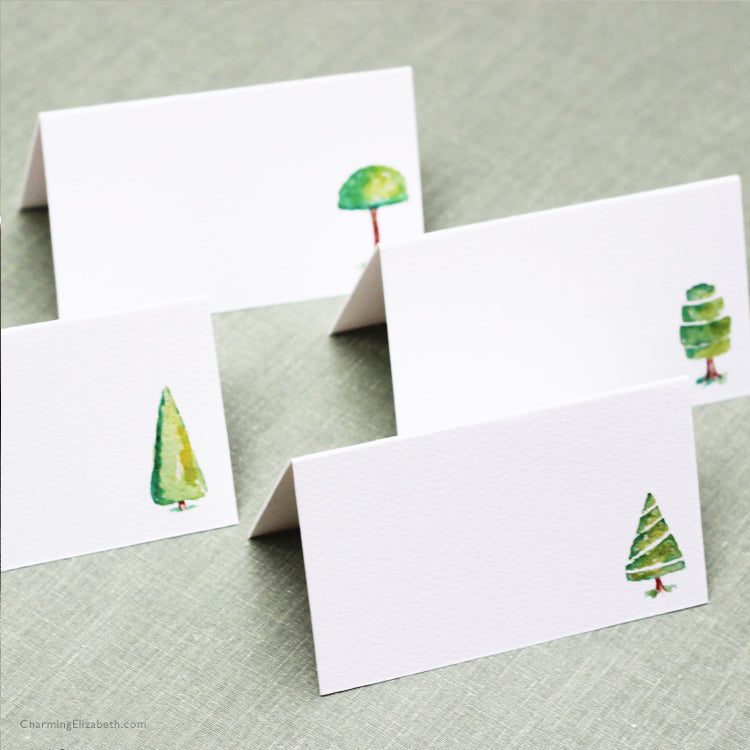 Topiary Place Cards, Assorted Styles
