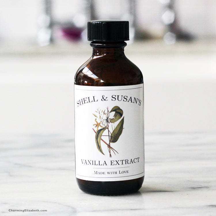 Personalized Vanilla Extract Label or Tag