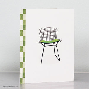 Wire Back Mid Century Chair Card