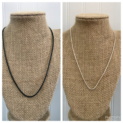 Necklace (Silver Chain/Black Cord) (THIS IS THE CHAIN or CORD ONLY)