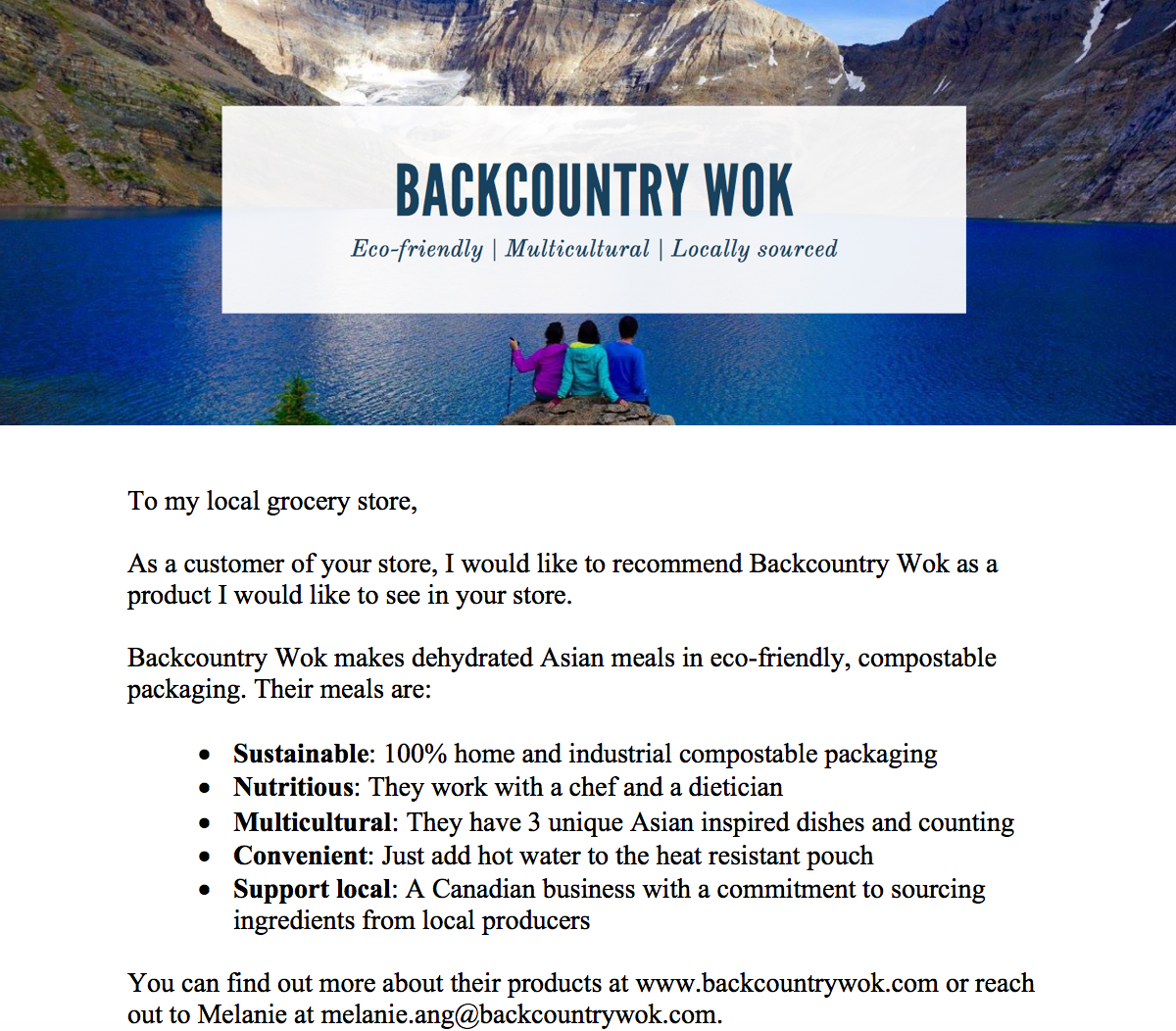 Backcountry wok retail stores