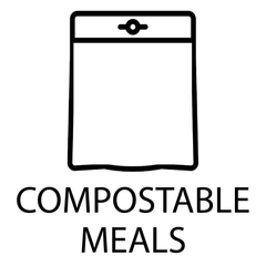 compostable meal icon