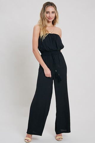 Jumpsuit With Pockets in Eggplant