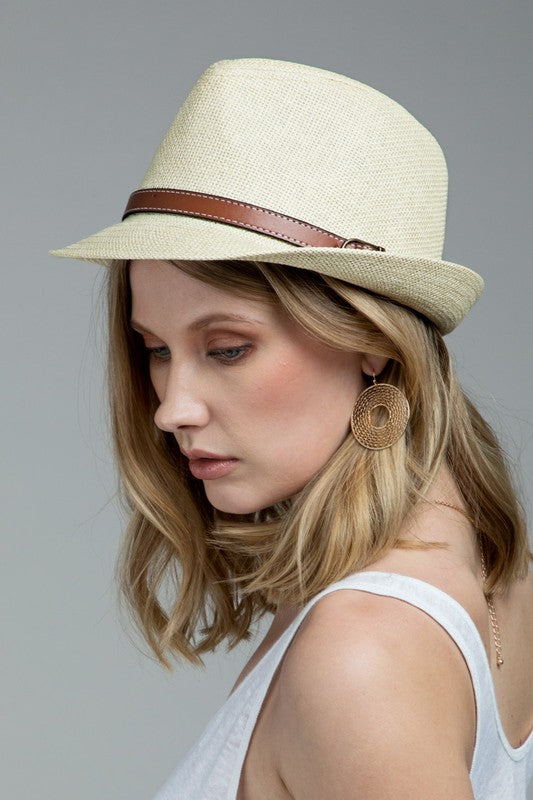Classic Fedora in Natural or White