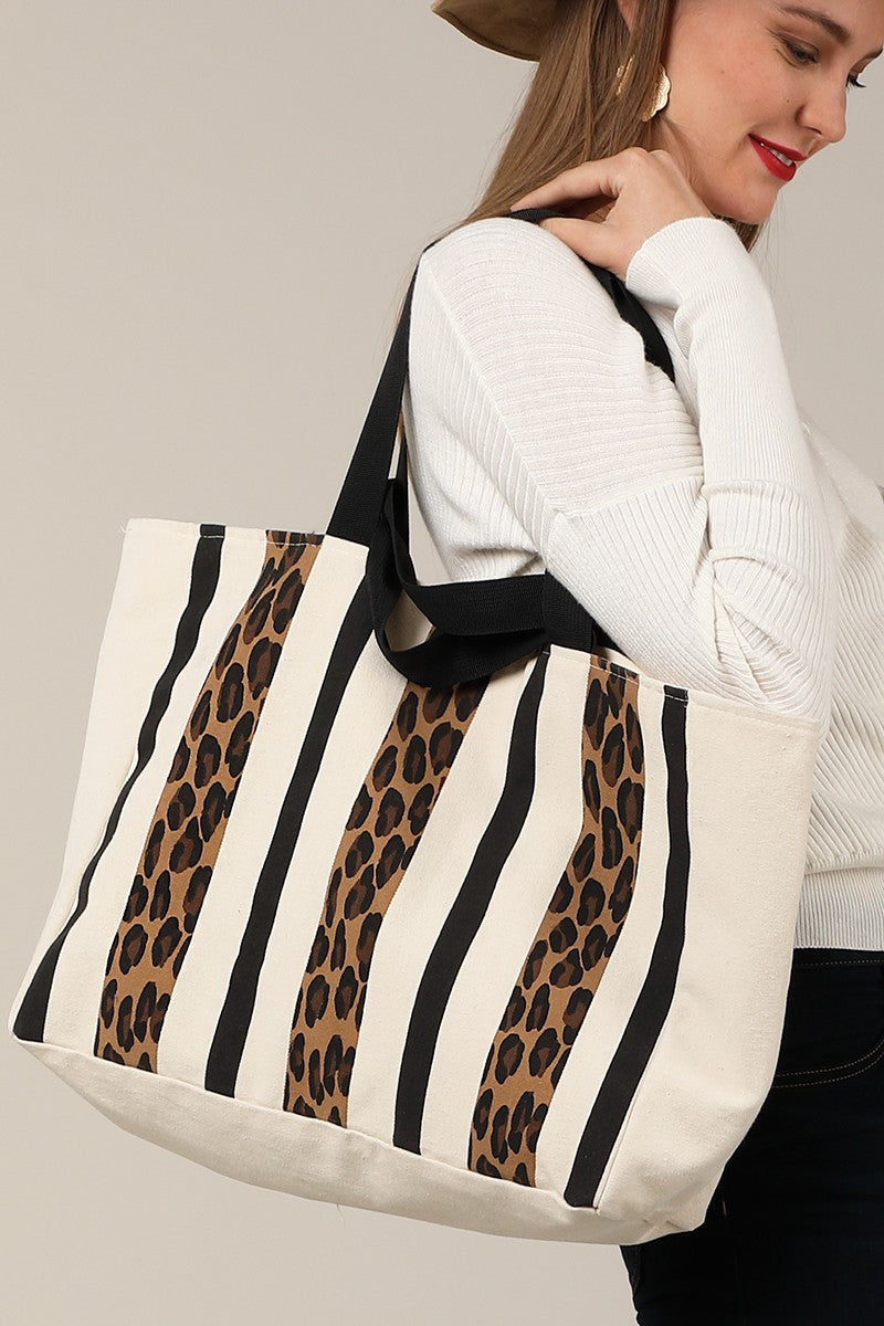Leopard Print Canvas Bag