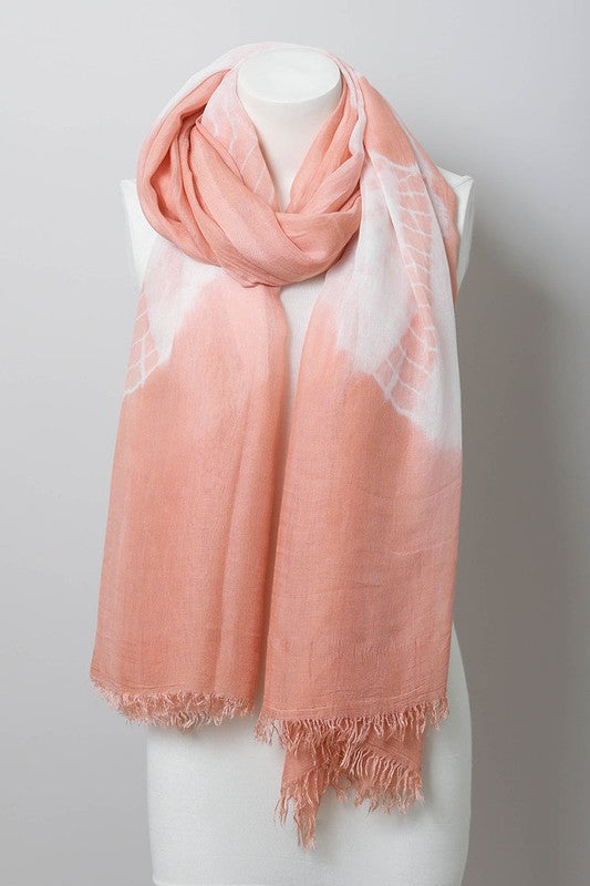 Tie Dye Lightweight Scarf in Rose