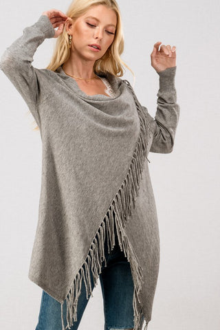 Lightweight Striped Sweater Top