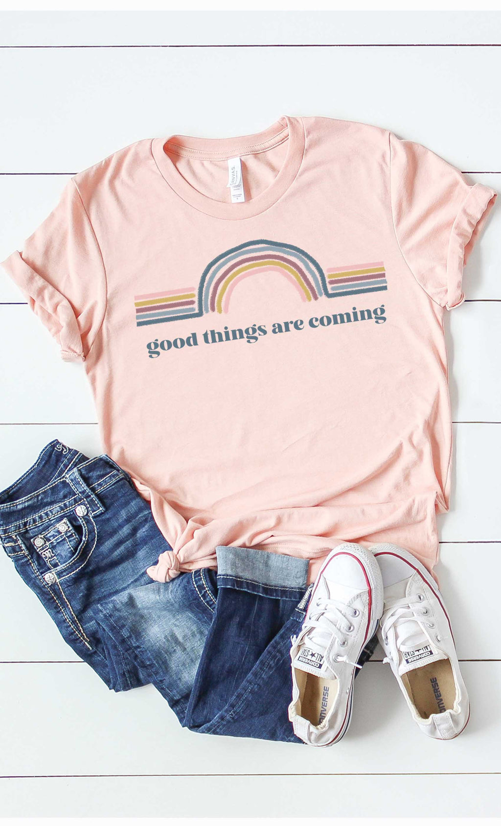 Good Things Are Coming Retro Graphic Tee