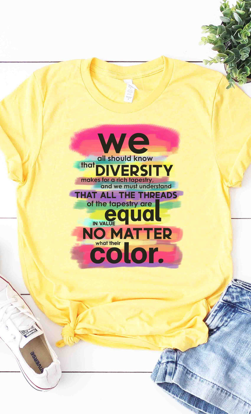 Rainbow of Diversity Graphic Tshirt