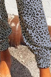 Leopard Print Loungers in Grey
