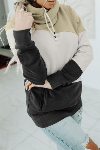 Brooke Colorblock Loose Fit Open Cardigan