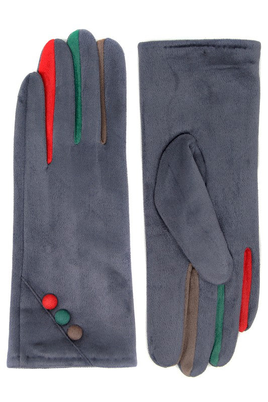 Smart Gloves With Colored Buttons