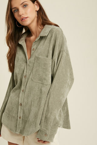 Adrienne Circle Cardigan in Khaki