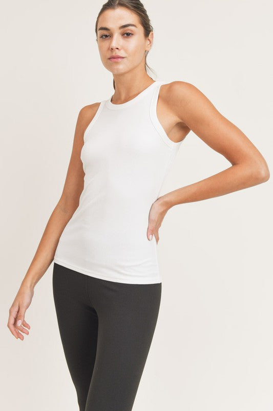 Molly Essential Micro-Ribbed Athleisure Tank Top in Black or White