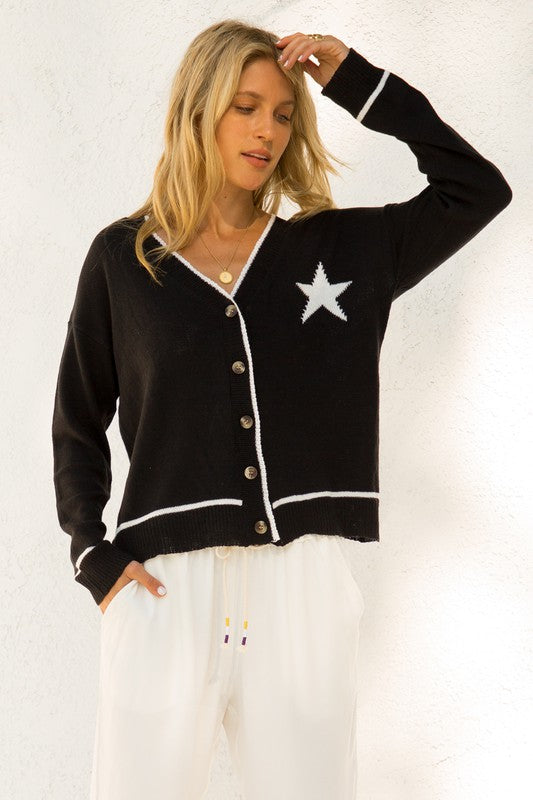 Sierra Button Down Star Cardigan
