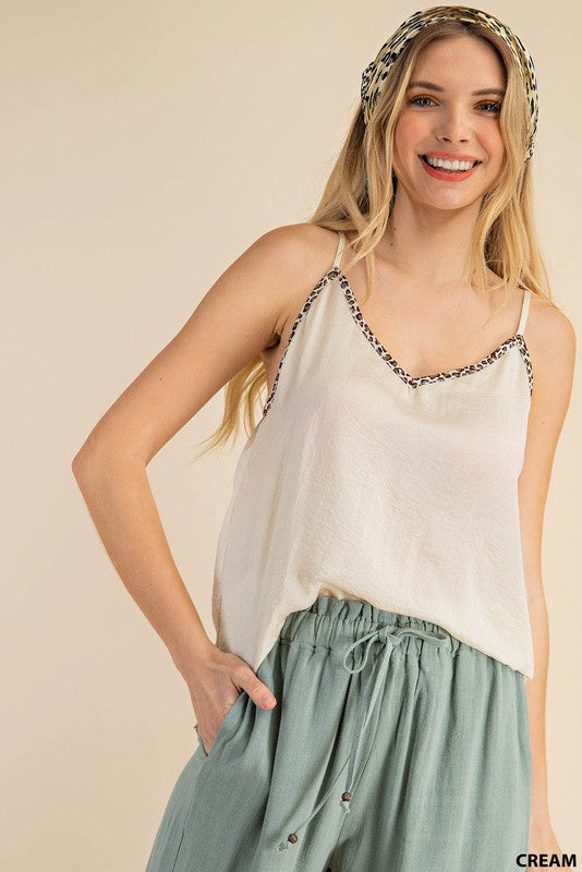 Teresa Adjustable Light Cami in Black or White